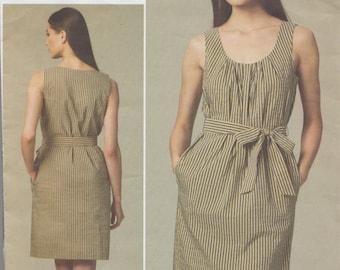 Very Easy Vogue 1236 / Designer Sewing Pattern By DKNY / Donna Karan / Sleeveless Dress / Sizes 8 10 12 14