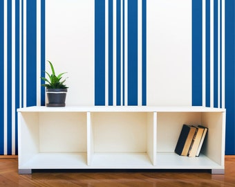 Stripe Wall Decal, Geometric Wall Decor, Nautical Wall Decal, Modern Wall  Decor,