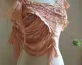 Summer sunset mushroom dyed tattered forest faerie pixie clothing
