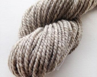 Handspun Yarn - Light Grey Swaledale - Undyed Handspun Yarn, Aran Yarn, UK