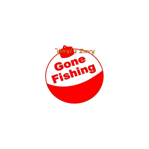 Gone Fishing Signs Decor: Gone Fishing Decal Fishing Decal Car Decal Sign