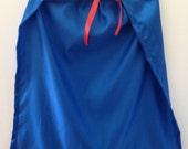 Child's Blue Cape - Handmade, Dress Up, Costume, Halloween, Cloak, Superhero, King, Queen, Princess, Prince