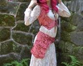 SALE! The Rose Quartz Snap Front Adjustable Goddess Armor Pocket Belt by Opal Moon Designs (Size S, M, L)