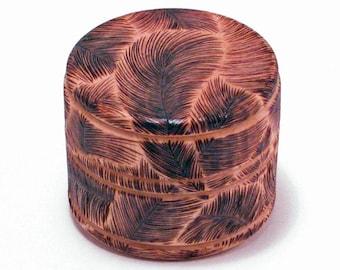 Woodburning Feather Box