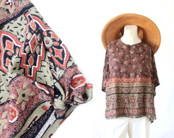 oversized southwest top / nos