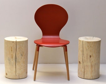 Stump Table Stool Seat Naked