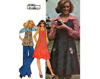 McCall's 4560 Tent Dress Jumper or Top Vintage Sewing Pattern Size 16 Bust 38 inches