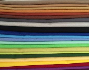 Twenty-eight Fat Quarters, Kona Solids, Quilt Fabric, Craft Fabric, Sewing, Quilting, 100% Cotton Premium Fabric
