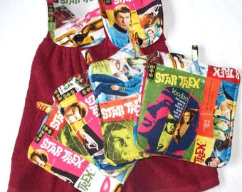 Star Trek Hot Pads or Fabric Topped,Single T-Towels,Your Choice,Heavy Duty,Thick Pot Holders,Kitchen Towels,Leonard Nemo Spock,Captain Kirk