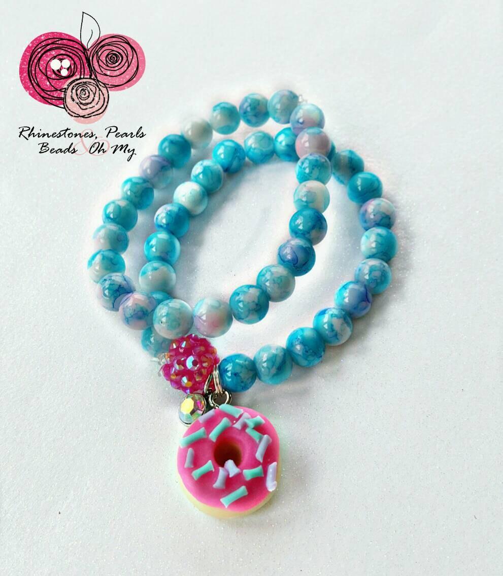 Baby Charm Bracelets: Donut Stack Bracelet Boho Baby Charm Bracelet Stack