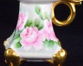 Vienna Austria Porcelain ChamberStick PH Leonard Candle Holder C1900