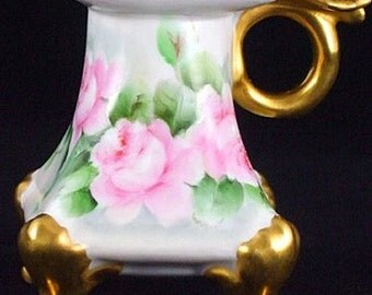 Vienna Austria Porcelain ChamberStick PH Leonard Candle Holder C1900