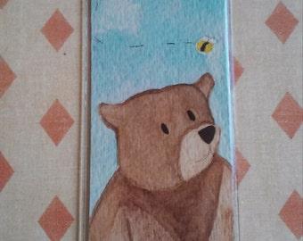 Bear Drinking Tea Bookmark