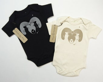 Aries | Organic Baby Bodysuit | Astrology Baby Gift | Screen Printed One Piece | Zodiac Sign | Infant One Piece | Baby Shower Present