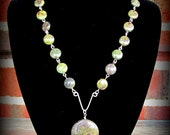 Necklace with Dragon Blood Jasper Stones