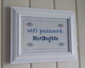 Wifi password custom cross stitch sampler needlepoint