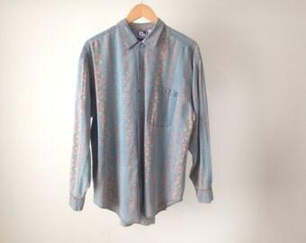 point break SURF print 80s 90s HAWAIIAN long sleeve shirt