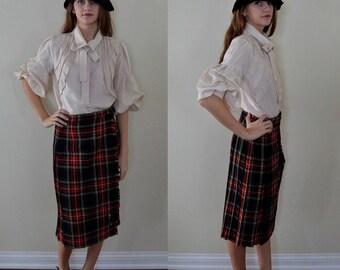 Vintage Tartan Skirt, 1970s Plaid Skirt, Laird Portch of Scotland, Pleated Skirt, 1970s Pleated Skirt, Vintage Skirt