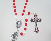 Saint Valentine Rosary Patron Saint of Love Happy Marriages Engaged Couples