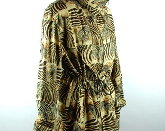 Fun Zebra Themed Lightweight Jacket by Amber Dawn, Size Small