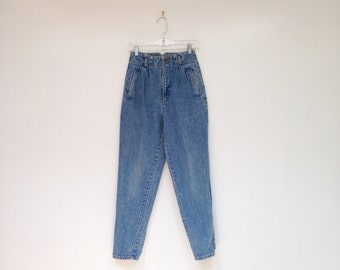 Rad Vintage 1980s High Waisted Medium Wash Slim Fit Jeans