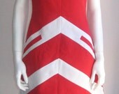 RESERVED  70s mod vintage dress