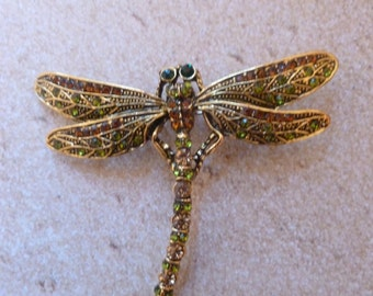 Elegant Jeweled Dragonfly Magnet