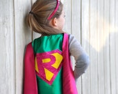 Easter Ready - PERSONALIZED Girl Birthday Gift - Sparkle Giri SUPERHERO CAPE - Customize with your child's initial - Kid Costume