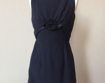 Black Vintage Sheath Dress Small 60s Tea Gown Just like Audrey Rose Little Black Dress XS