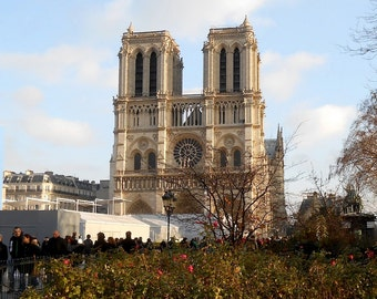 Paris Photography Download of Notre Dame Cathedral View in Winter