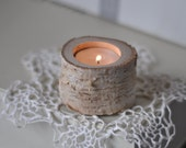 White Birch Candle Holder • Candle Holder