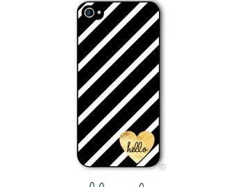 Personalized iPhone Case Custom Monogram Case iPhone 4 5 5s 5c 6 6s 6 Plus, Samsung Galaxy S4 S5 S6 Tough Phone Case Heart Style 215