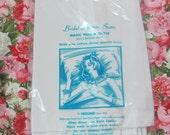 Vintage 1960s Freund Bridal Acetate Satin White Single Pillow Cover Case