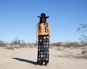 Crochet Granny Square maxi skirt 1970