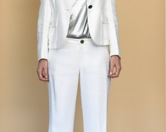 White 2 piece Suit