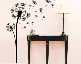 Wall decals DANDELION FLORAL DECAL Vinyl art decor sticker