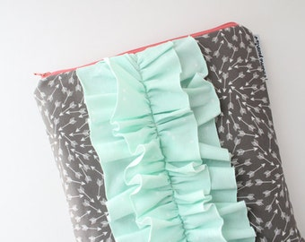 iPad sleeve / iPad case [choose your size] -- slate arrows