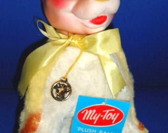 FREE SHIPPING! Beauregard Baby Bull, Rubber Head, My Toy Plush Pals, Borden Dairy, Elsie The Cow, Toys, Advertising Collectible, Rare!