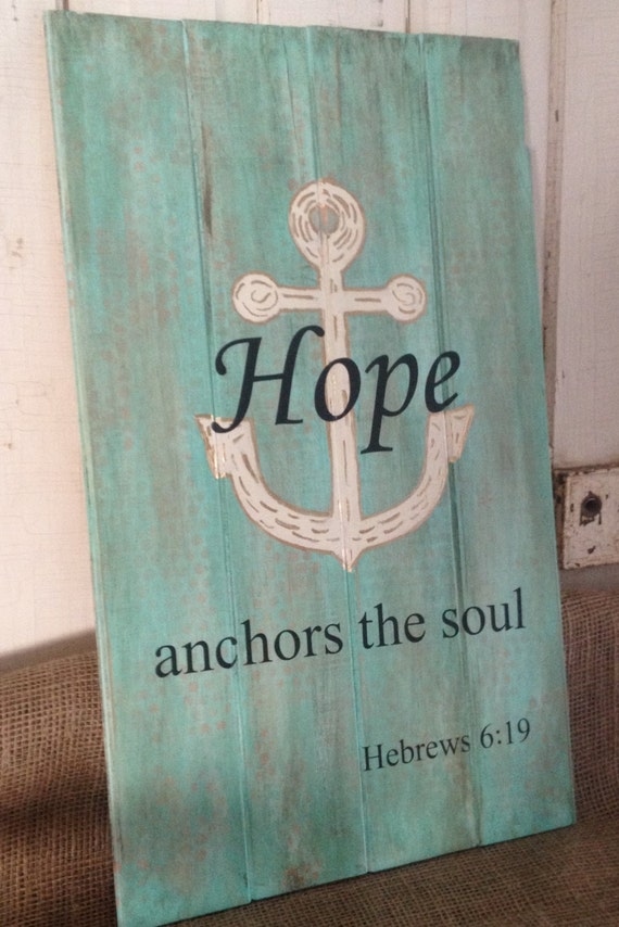 Private Listing Jackie Hand Painted Wood Sign Hope By