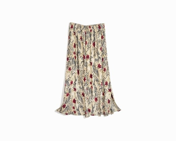 Vintage 90s Festival Maxi Skirt in Floral Print - one size
