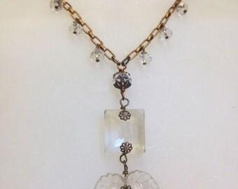 Vintage Chandelier Crystals Necklace
