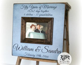 50th Anniversary Gifts For Parents, 50th Golden Anniversary Picture Frame, 16x16 The Sugared Plums Frames
