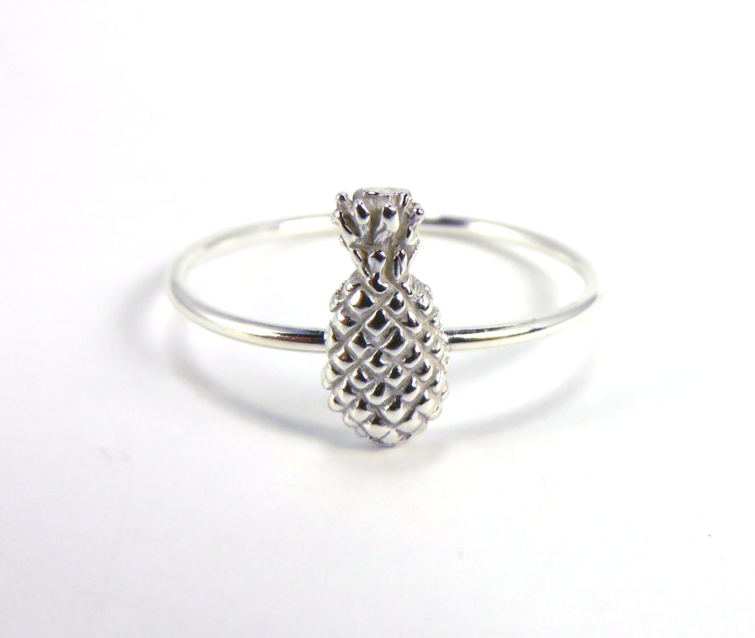 pineapple ring silver pineapple ring silver stacking ring