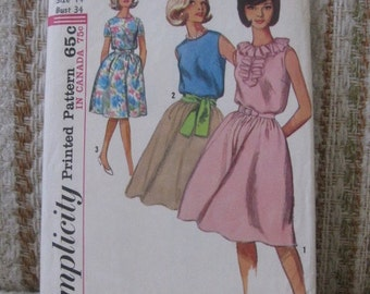 Simplicity Size 14 Juniors' and Misses' One-Piece Dress Pattern 5505