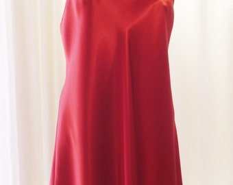 Vintage Red Nightgown Gilligan O'Malley New Old Stock Large
