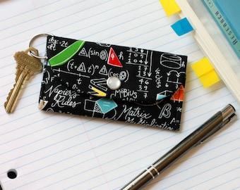 Math Keychain Wallet - ID Holder Wallet - Math Teacher Gift - Card Holder Wallet - Engineer Gift - Math Nerd - Calculus