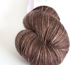 Brown hand-dyed MCN yarn   Round Table Yarns Camelot in Lionel   fingering weight