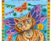 Coloring Book  Fantasy Cats Be the Artist 8 x 10 Full Size Spiral Bound Book for Cat Lovers of All Ages