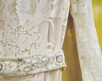 Vintage Art Deco Bridal Sash Bridal Belt