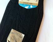Vintage 1950s Mens Dress Socks // Ribbed Black Hose // NOS Lord Gentry Over the Knee // Nylon // Size 10-13